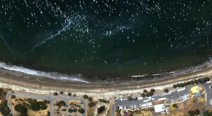 NASA Maps Beach Tar from California Oil Pipeline Spill